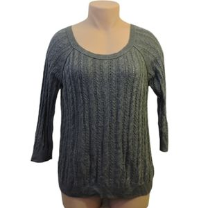 American eagle outfitters gray knit sweater XL